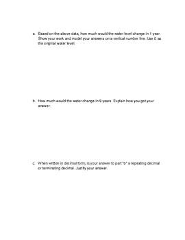 7th Grade Math Pre-test/Post-test (Eureka)
