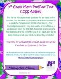 7th Grade Math Pre/Post Assessment CCSS