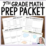 7th Grade Math Prep Packet
