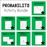7th Grade Math Probability Activity Bundle