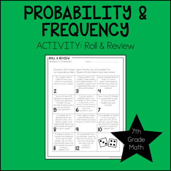 7th Grade Math Probability & Frequency Activity