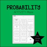 7th Grade Math Probability Maze 7.SP.7