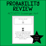 7th Grade Math Probability Scavenger Hunt 7.SP.5, 7.SP.6,