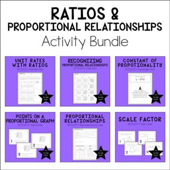 7th Grade Math Proportional Relationships Activity Bundle
