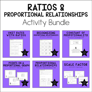 7th Grade Math Proportional Relationships Activity Bundle