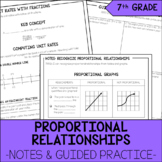 7th Grade Math Proportional Relationships Notes & Guided Practice