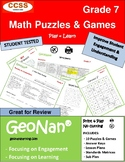 7th Grade Book of 10 Math Puzzles & Games