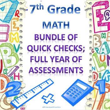 7th Grade Math Quick Checks Bundle