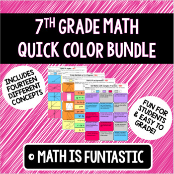 7th Grade Math Quick Color Bundle