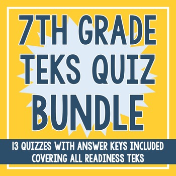 7th Grade ALL Readiness TEKS BUNDLE!