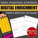 7th Grade Math Ratios, Proportions, & Similarity Digital E