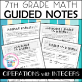 Operations with Integers Guided Notes