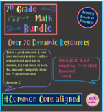 7th Grade Math -  Resource Bundle