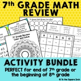 7th Grade Math Review Activities