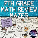 7th Grade Math Review Activity