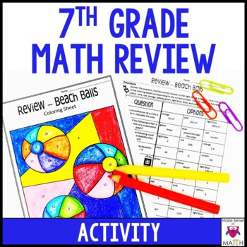 7th Grade Math Review Activity End of Year