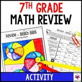 7th Grade Math Review Activity Worksheet