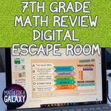 7th Grade Math Review Digital Escape Room