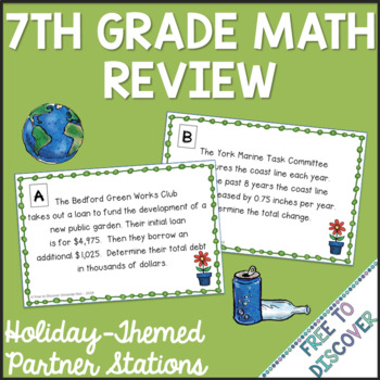 7th Grade Math Review - Earth Day Theme