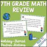 #mathdollardeals 7th Grade Math Review - Earth Day Theme