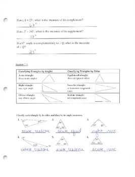 7th Grade Math Review Packet - Answer Key