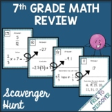 7th Grade Math Review Activity - Scavenger Hunt