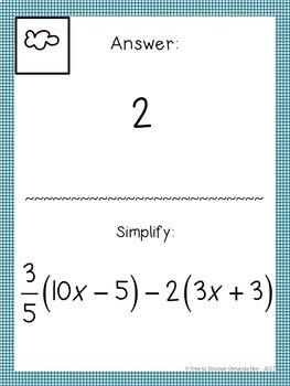 7th Grade Math Review Activity - Scavenger Hunt