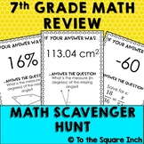 7th Grade Math Review Scavenger Hunt