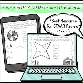7th Grade Math STAAR Review & Prep - Task Cards (Set #1 ...