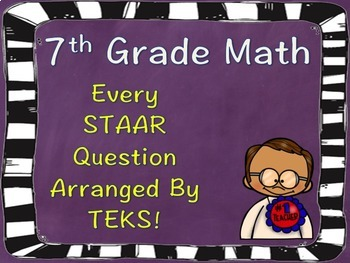 7th Grade Math STAAR Question Analysis Arranged by TEKS