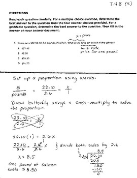 7th Grade Math STAAR Review, Easy to Follow Solution - Showing Your Work!