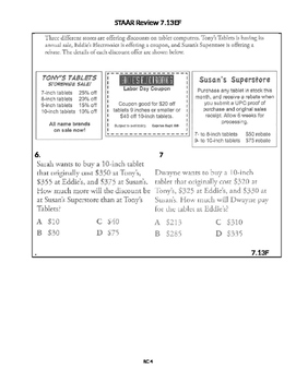 7th Grade Math: STAAR Review - TEKS 7.13EF