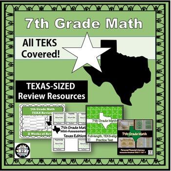 7th Grade Math STAAR Test Prep {Texas Edition}