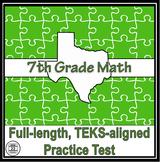 7th Grade Math TEKS Practice Test