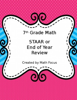 7th Grade Math STAAR or End of Year Practice
