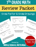 7th Grade Math Scale Factor and Scale Drawings Review Pack
