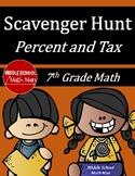7th Grade Math Scavenger Hunt Percent and Tax