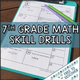 7th Grade Math Skill Drills