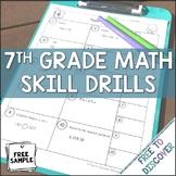 7th Grade Math Skill Drills {Free Sample}