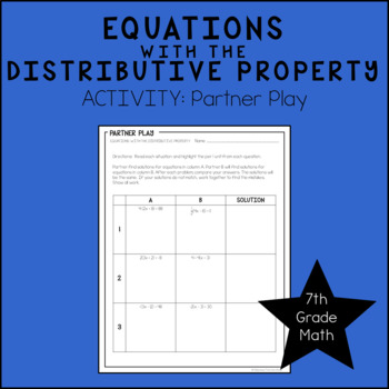 7th Grade Math Solving Equations with the Distributive Pro