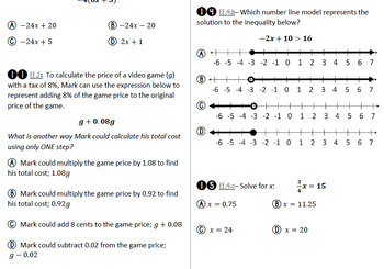 7th Grade Math Spiral Review Assessments (All-Year) w/ Student Checklist