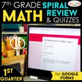 7th Grade Math Spiral Review | Google Classroom Distance L