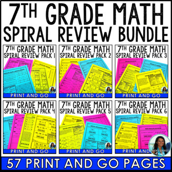 7th Grade Math Spiral Review Packet