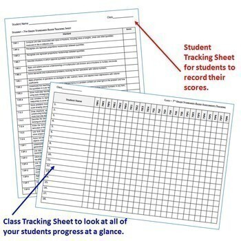 7th Grade Math Standards Based Assessments BUNDLE * All Standards * Common Core
