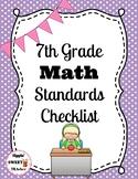 7th Grade Math Standards Checklist (Common Core)