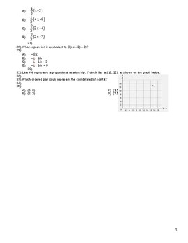 7th Grade Math State Exam Questions by Unit_Review