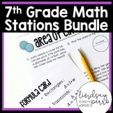 Middle School Math Stations Bundle for 7th Grade