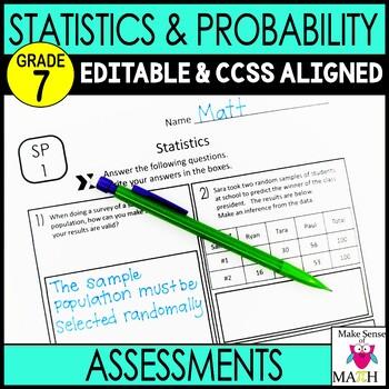 7th Grade Math Statisics and Probability Common Core Mini