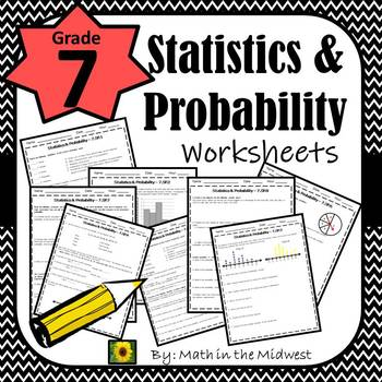 7th Grade Math Statistics Probability Worksheets By Math In The