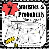 7th Grade Math Statistics & Probability Worksheets